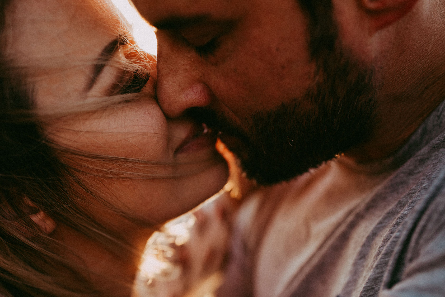 Jacksonville, NC, Family Photographer, close up of couple kissing